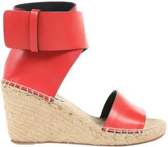 Celine Red Leather Espadrilles