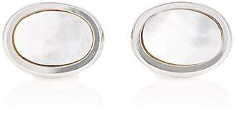 Barneys New York MEN'S OVAL CUFFLINKS - PEARL