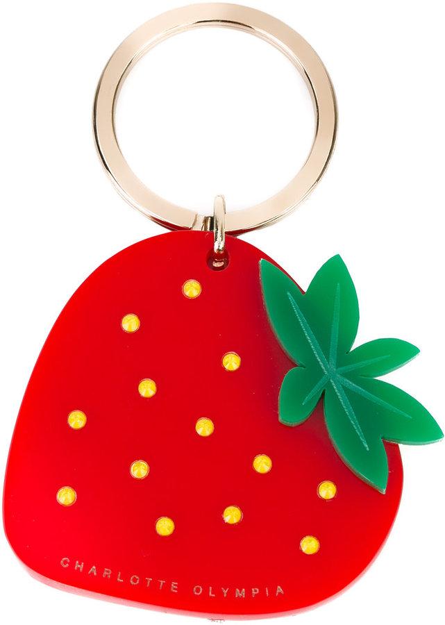 Charlotte OlympiaCharlotte Olympia strawberry keyring