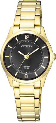 Citizen ER0203-85E Stainless Steel Quartz Dress Watch in Gold