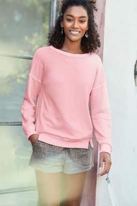 Next Womens Fluro Pink Tie Back Sweatshirt