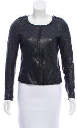 The Kooples Quilted Leather Jacket