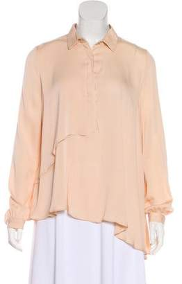 Lover Silk Button-Up Top