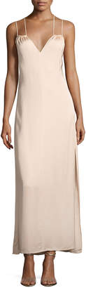 Elizabeth and James Jericho Double Spaghetti Strap Maxi Dress, Blush