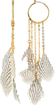 Lydell NYC Feather Statement Earrings