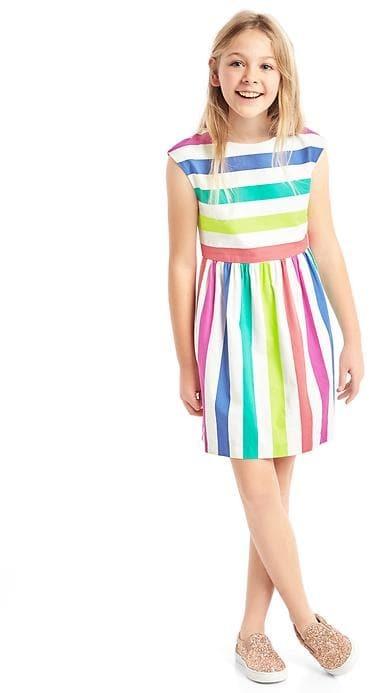 Bold stripe cap dress