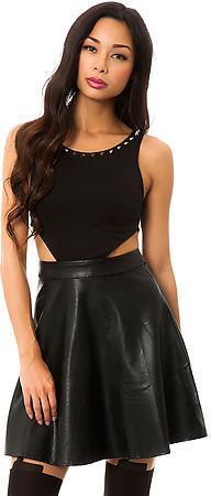Reverse The Vegan Leather Skirt Dress