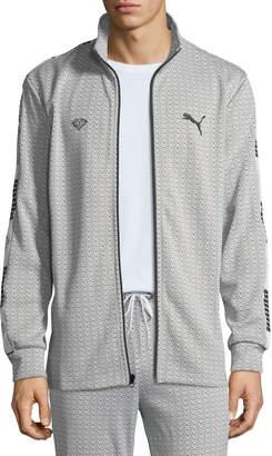 Puma Men's X Diamond Track Jacket, White
