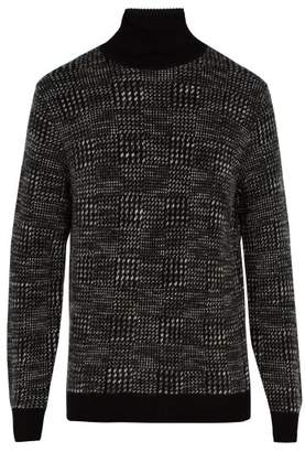 Ermenegildo Zegna Roll Neck Cashmere Blend Sweater - Mens - Black Multi