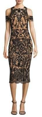 Thurley Jasmine Cold-Shoulder Midi Dress