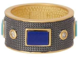Freida Rothman Bricked Lapis Multi Stone Band Ring - Size 6