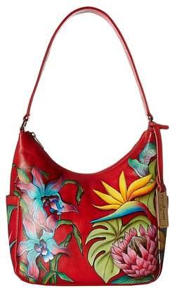 Anuschka 382 Classic Hobo With Side Pockets Hobo Handbags