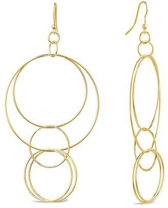 Sterling Forever 14K Yellow Gold Vermeil Layered Hoop Drop Earrings