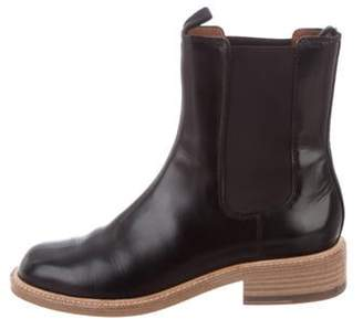 Celine Leather Round-Toe Boots Black Leather Round-Toe Boots