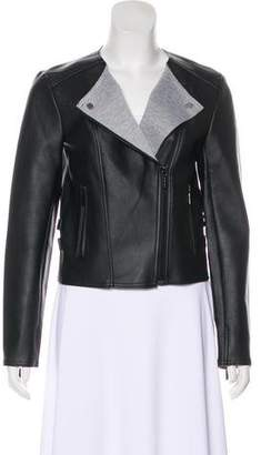 MICHAEL Michael Kors Vegan Leather Zip-Up Jacket