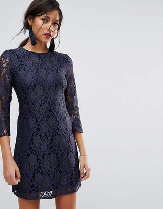 Oasis All Over Lace Shift Dress