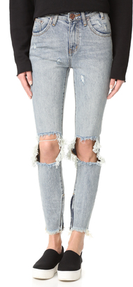 One Teaspoon Whiskey High Waisted Freebird Jeans $147 thestylecure.com