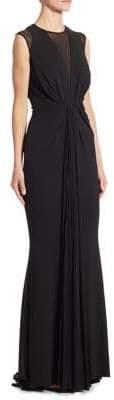 Talbot Runhof Sleeveless Jersey Gown