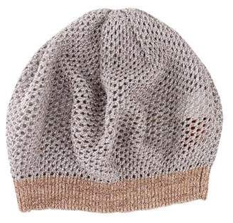 Missoni Metallic Knit Beret