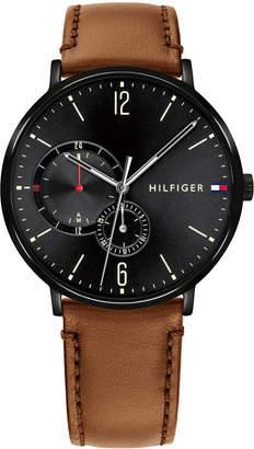 Tommy Hilfiger Men's Cognac Leather Strap Watch 40mm