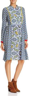 Max Mara Vite Multi-Botanical-Print Dress