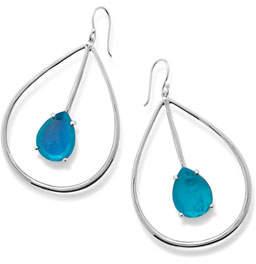 Ippolita 925 Wonderland Large Pear Drop Earrings, Bright Blue
