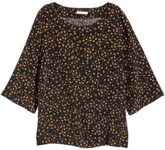 H&M Short-sleeved Blouse - Black