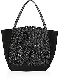 Proenza Schouler Women's Cotton & Leather Macramé Tote