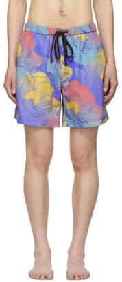 Double Rainbouu Multicolor Fast Paradise Night Swim Shorts