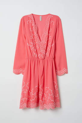 H&M Embroidered Dress - Pink