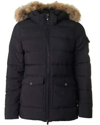 Pyrenex Authentic Fur Hooded Soft Puffa Jacket