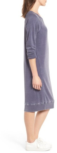 Women's Treasure & Bond Off The Shoulder Fleece Knit Dress 3