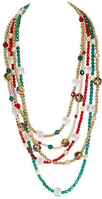 One Kings Lane Vintage YSL Crystal Multi Strand Necklace - Vintage Lux