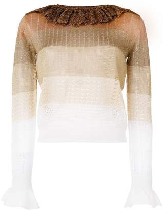 Marco De Vincenzo ruffled colour block jumper