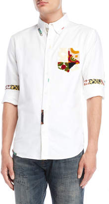 Desigual Printed Button-Down Sport Shirt