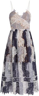 SELF-PORTRAIT Camellias patchwork-lace midi dress $525 thestylecure.com