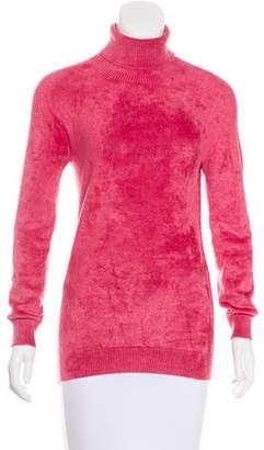 Dries Van Noten Chenille Turtleneck Sweater
