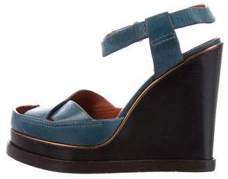 Marc by Marc Jacobs Leather Ankle Strap Wedges