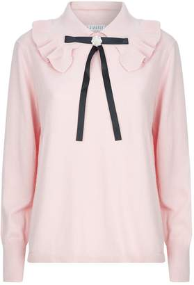 Claudie Pierlot Ruffle Trim Sweater