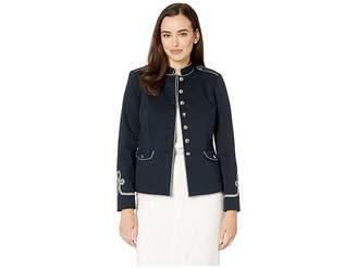 Lauren Ralph Lauren Soutache-Trim Officer's Jacket