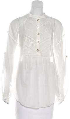 Temperley London Semi-Sheer Long Sleeve Top