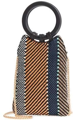 Street Level Mini Woven Top Handle Bag