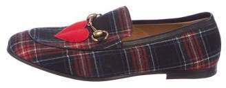 Gucci Jordaan Plaid Loafers