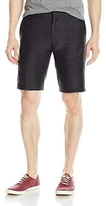 Louis Raphael Men's Slim Fit Flat Front Linen Blend Short