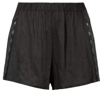 Hanro Liane Lace-trimmed Gauze Pajama Shorts