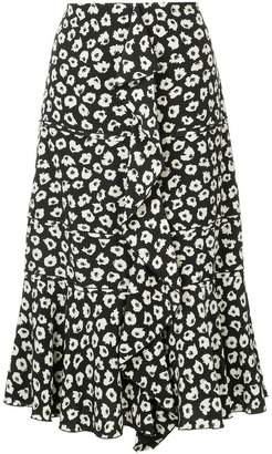 Proenza Schouler ruffle-trim printed skirt