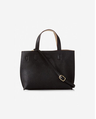 Express street level mini reversible tote with wristlet $38 thestylecure.com