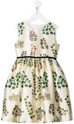 Oscar de la Renta Kids floral print occasion dress