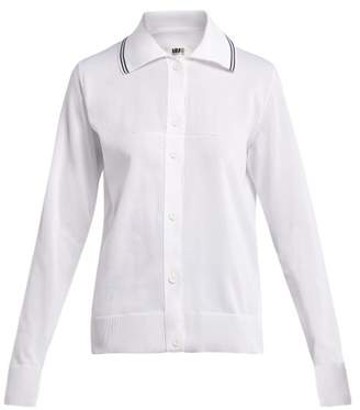 MM6 MAISON MARGIELA Long Sleeved Knitted Polo Shirt - Womens - White