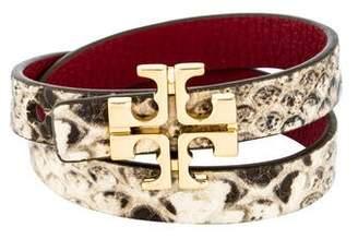 Tory Burch Leather Reversible Wrap Bracelet